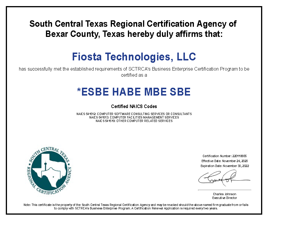 About Us - Fiosta Technologies, LLC.